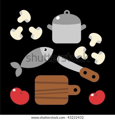 kitchen - stock vector