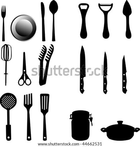 kitchen utensils silhouette vector free. Wonderful Vector Kitchen Intended Kitchen Utensils Silhouette Vector Free U
