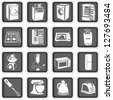 Kitchen appliance icons - stock vector