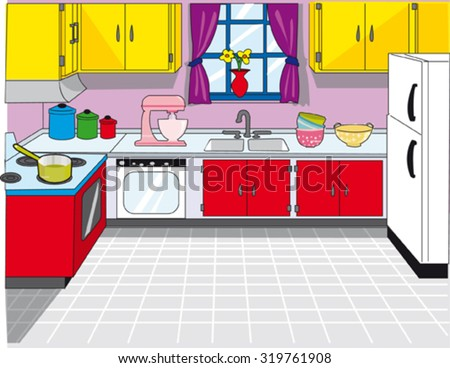 clean kitchen stock vectors vector clip art shutterstock