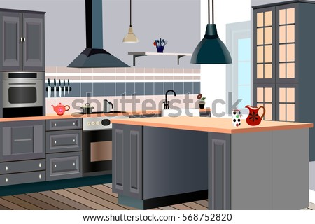 Open fridge cartoon stock images royalty free images for Interior design kitchen symbols