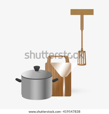 Kitchen Design. Supplies Icon. White Background, Vector Illustration Part 93