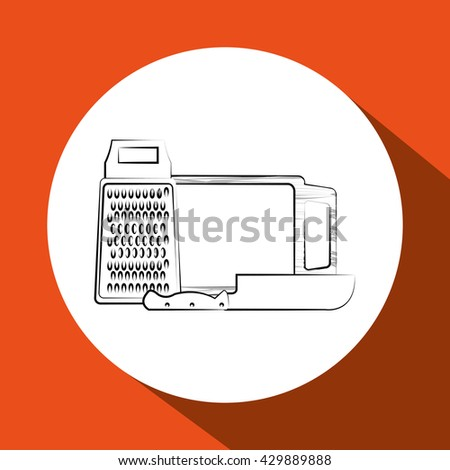 Kitchen design. Supplies icon. White background, vector illustration