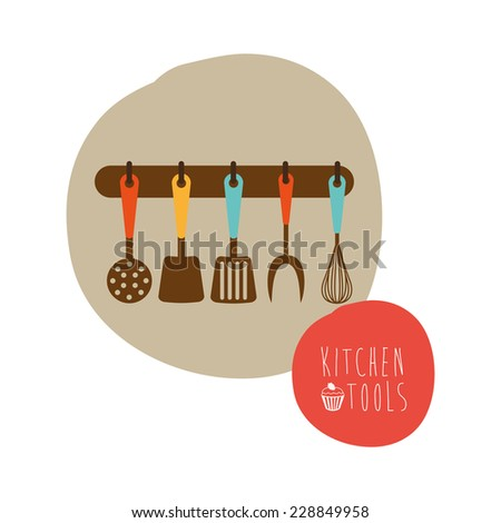 kitchen graphic design , vector illustration - stock vector