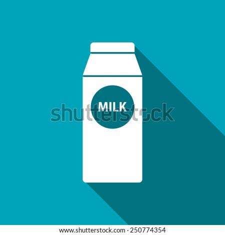 kitchen icon of milk - stock vector