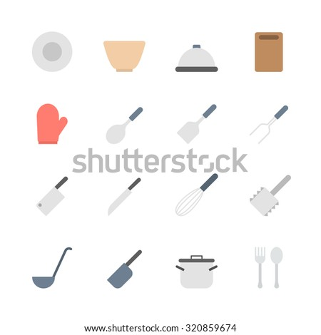 kitchen  icons set - stock vector