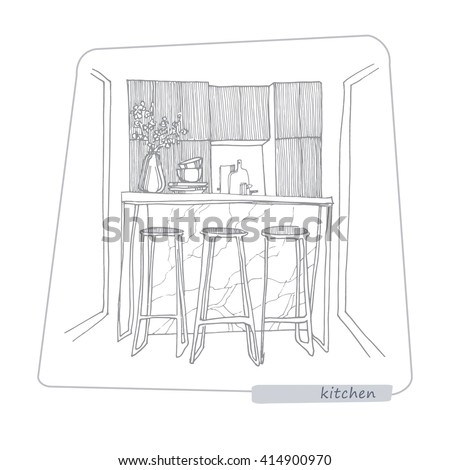 Prozerpina 39 s portfolio on shutterstock for Kitchen set drawing
