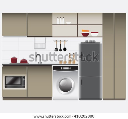 Kitchen Interior set and built-in