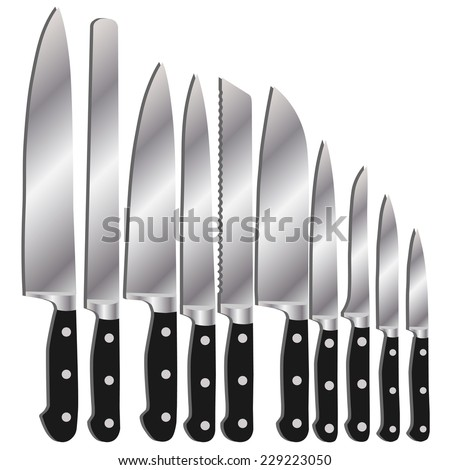 Kitchen Knife Vector kitchen knives chef knife kitchen knives stock vector 229224346