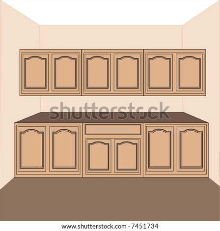 kitchen-laundry cabinets,vector - stock vector