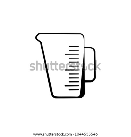 Kitchen Measuring Cup Icon Element Bakery Stock Vector 1044535546