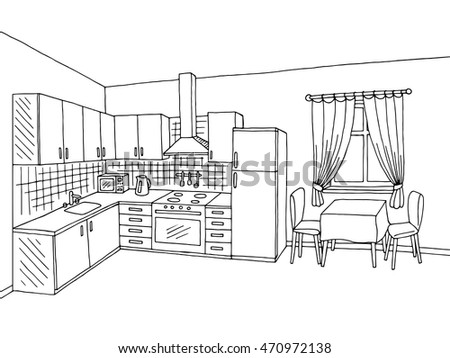 Kitchen Drawing Stock Images Royalty Free Images