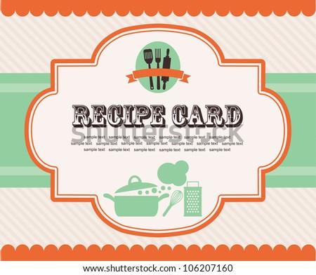 Recipe Card Images RoyaltyFree Images Vectors – Sample Recipe Card