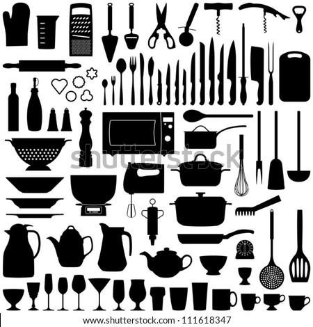 Kitchen Utensils Silhouette Vector Free kitchen utensils stock images, royalty-free images & vectors