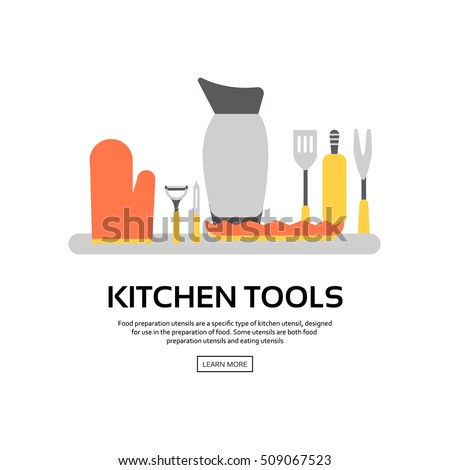 "Kitchen Collection Logo collection of home tools silhouettes"" stock photos, royalty-free"