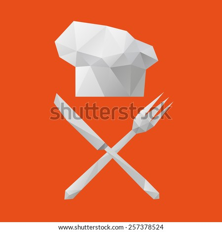 Kitchen utensils abstract isolated on a white backgrounds, vector illustration  - stock vector