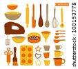 Kitchen Utensils set - stock vector