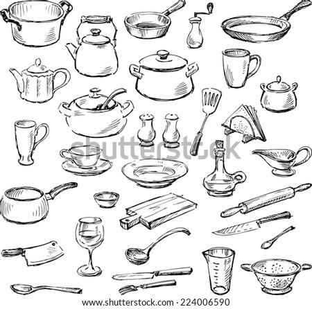 kitchenware - stock vector