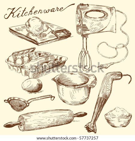 kitchenware - stock vector