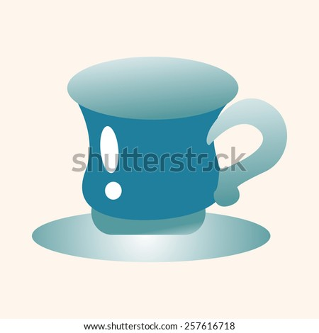 kitchenware cup theme elements