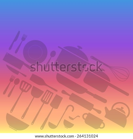 kitchenware icon in faded on a colorful background - stock vector