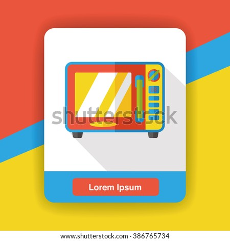 kitchenware microwave flat icon - stock vector