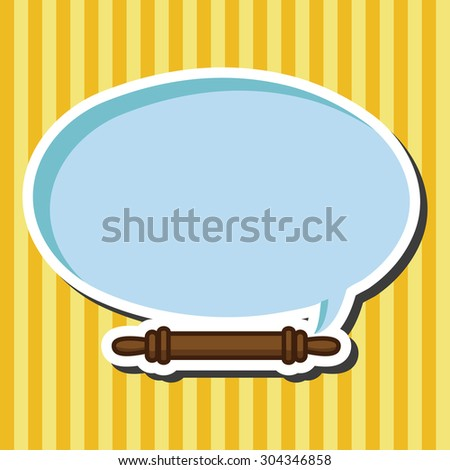 kitchenware rolling pin theme elements - stock vector