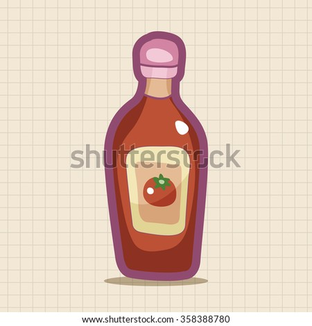 kitchenware sauce bottle theme elements