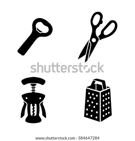 Kitchenware vector icons - stock vector