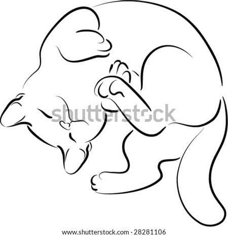kitty - stock vector