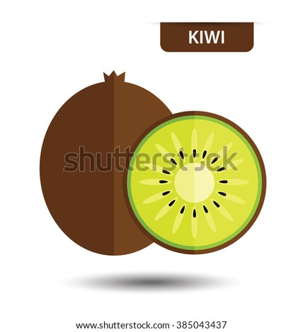 Kiwi, fruit vector illustration