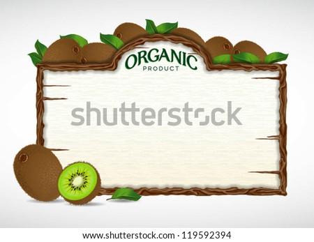 kiwi menu board - stock vector
