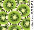 Kiwi slice background/card in vector format. - stock vector
