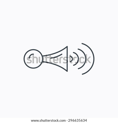 stock vector klaxon signal icon car horn sign linear outline icon on white background vector 296635634 klaxon horn stock images, royalty free images & vectors shutterstock klaxon horn wiring diagram at webbmarketing.co