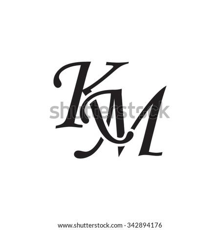 Km Initial Monogram Logo