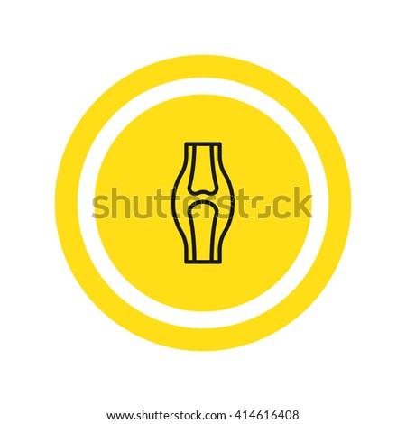 Knee joint icon, Knee joint icon eps 10, Knee joint icon vector, Knee joint icon illustration, Knee joint icon jpg, Knee joint icon picture, Knee joint icon flat, Knee joint icon design,  - stock vector