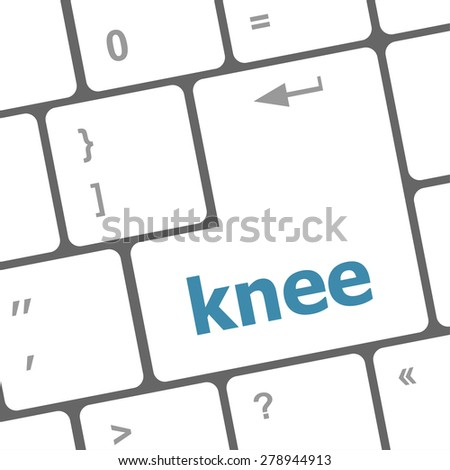 knee word on computer keyboard keys vector