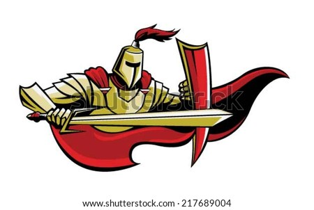 knight - stock vector
