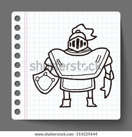 knight doodle