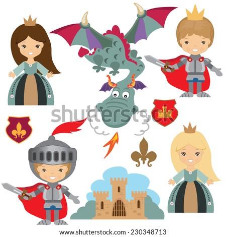 https://thumb1.shutterstock.com/display_pic_with_logo/1218791/230348713/stock-vector-knight-princess-and-dragon-vector-illustration-230348713.jpg Knight