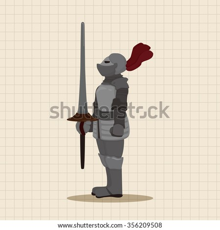 knight theme elements vector,eps - stock vector