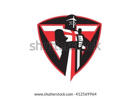 Knights Templar - stock vector