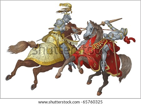 Knights tournament  vector - stock vector