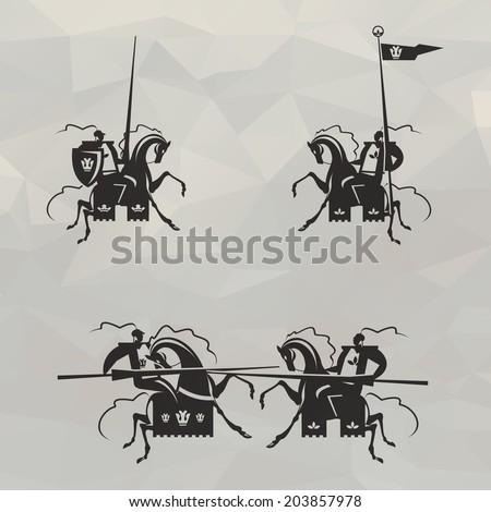Knights. Vector format - stock vector
