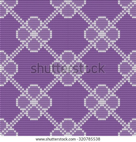 knitted baby seamless pattern - stock vector