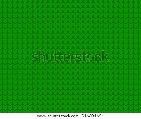 Knitted cloth seamless background green color