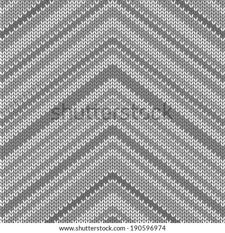 Knitted fabric with gray pattern (seamless texture)