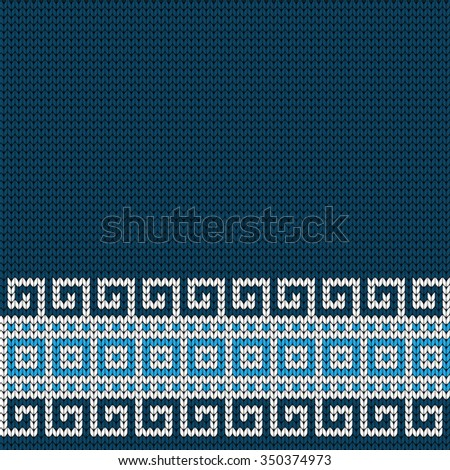 Knitted Greek seamless border