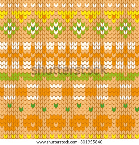 knitted kinder seamless pattern - stock vector