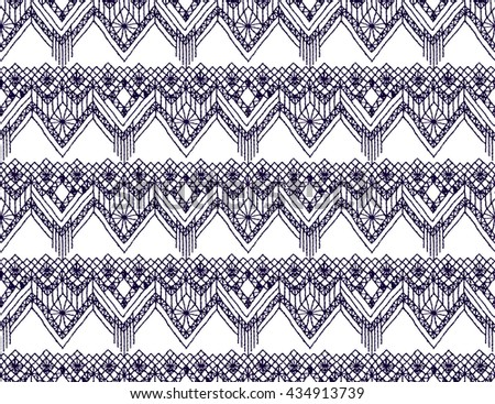 Knitted Lace Lace Pattern Crochet Macrame Stock Vector Royalty Free
